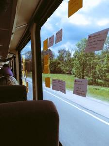 On the bus - brainstorming UX